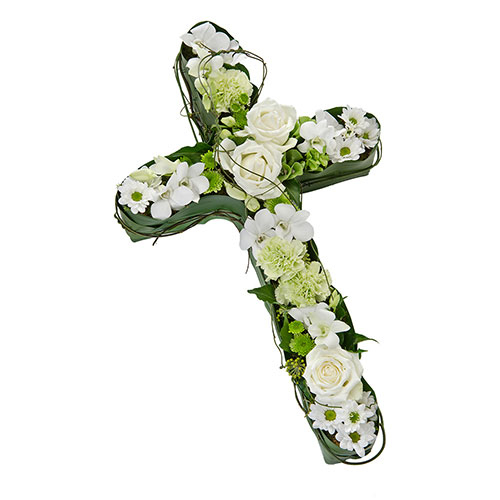 Wandin Florist Rememberance Flower Cross