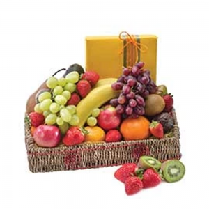 Hamper fruit & chocolate