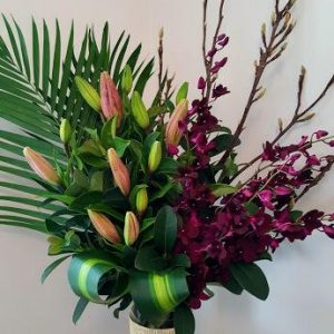 Wandin Florist Lux Lilly Flower Arrangement