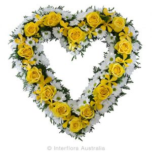 Wandin Florist Heart Flower Wreath