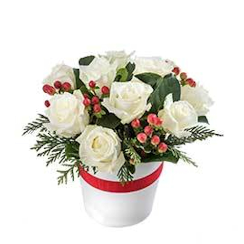 Wandin Florist White Christmas Flower Arrangement