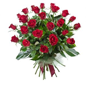 temptation delux red roses bouquet