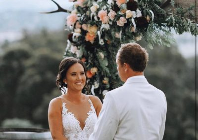 Wedding Flowers and Arch at Riverstone Estate