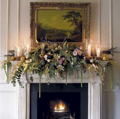 Christmas Mantel Decorations By Wandin Florist